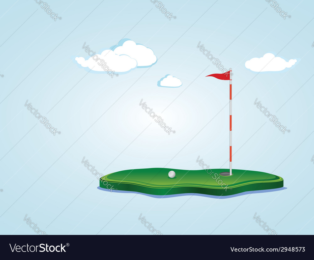 Golf field2 vector | Price: 1 Credit (USD $1)