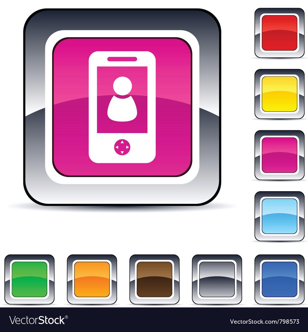 Person square button vector | Price: 1 Credit (USD $1)