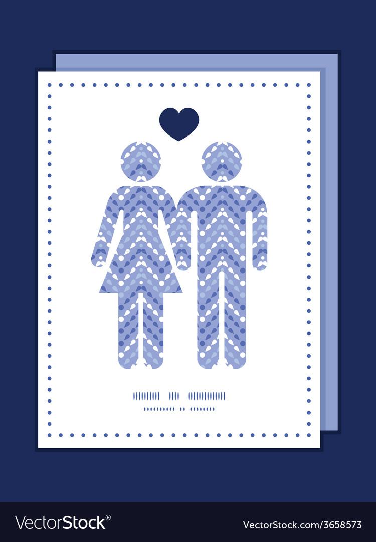 Purple drops chevron couple in love silhouettes vector | Price: 1 Credit (USD $1)