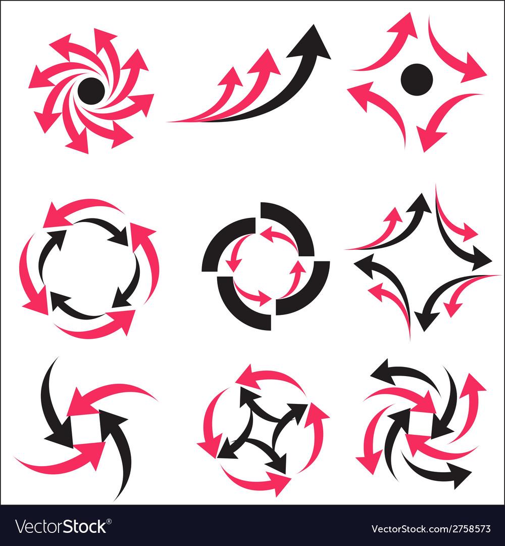 Set calligraphic design logo elements vector   Price: 1 Credit (USD $1)