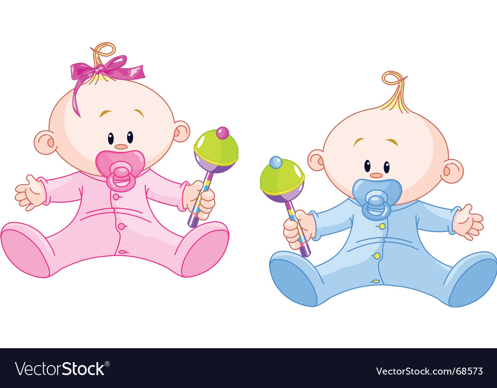 Sweet twins vector | Price: 1 Credit (USD $1)