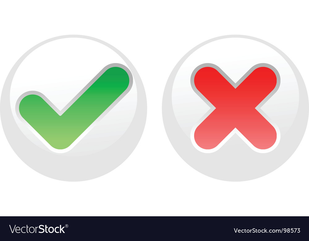 Yes-no white buttons vector | Price: 1 Credit (USD $1)