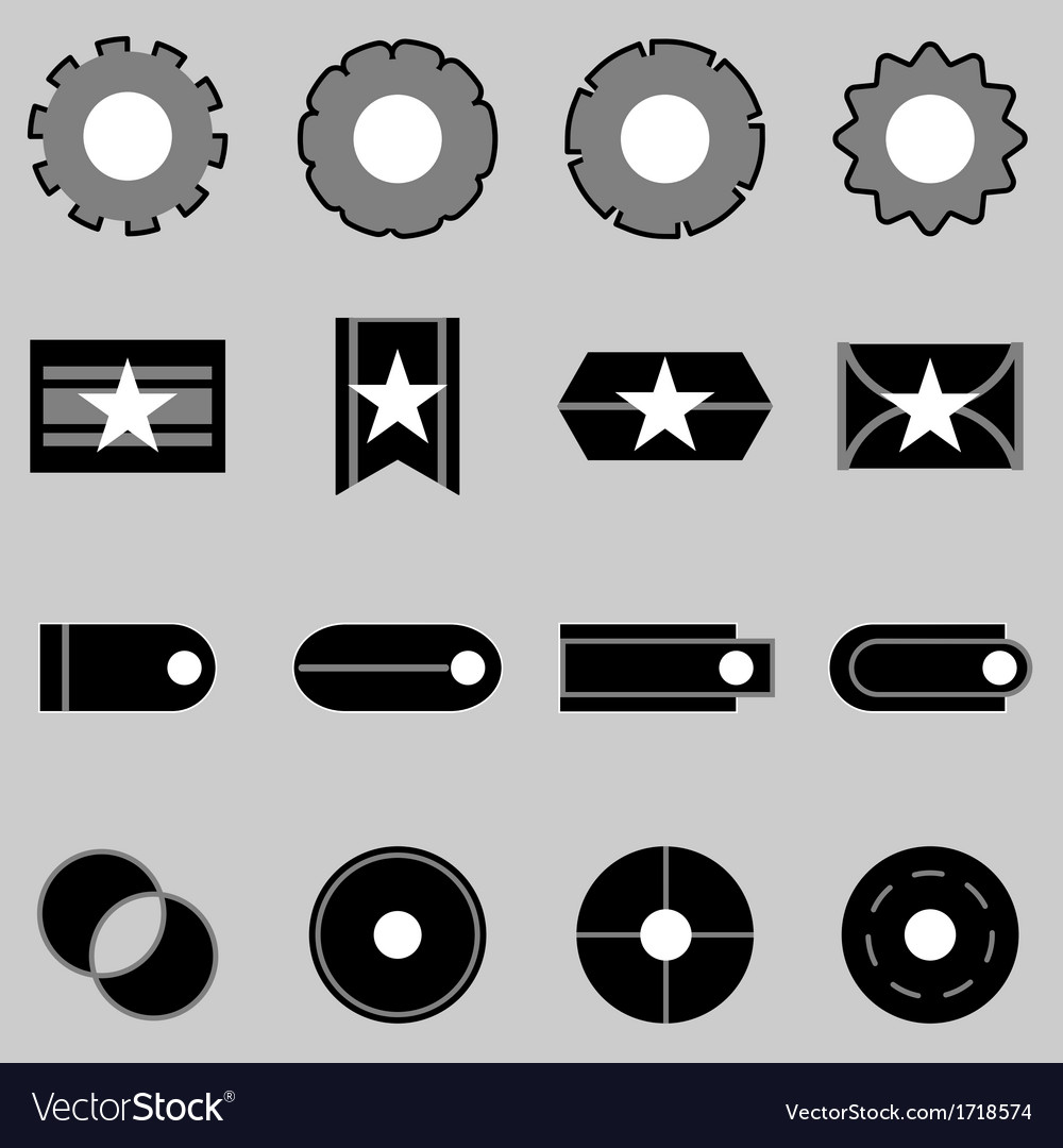 Create web icons on gray background vector | Price: 1 Credit (USD $1)
