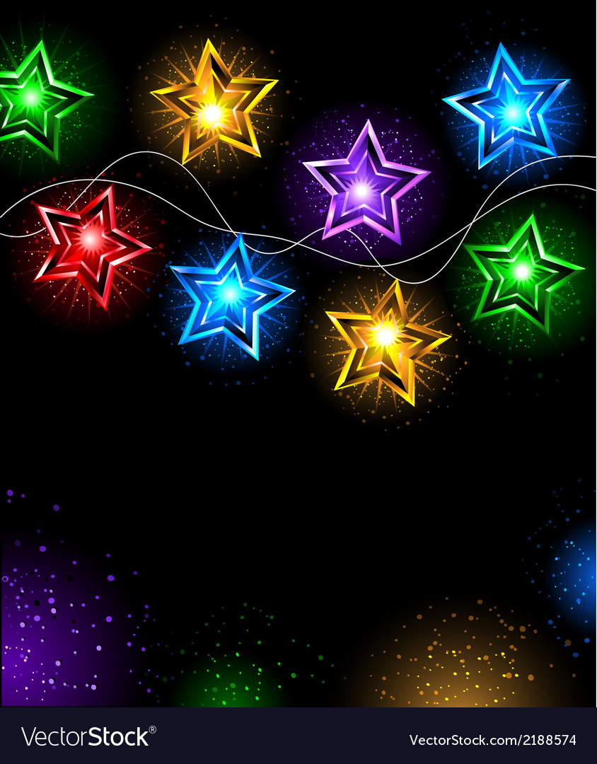 Garland of stars vector | Price: 1 Credit (USD $1)