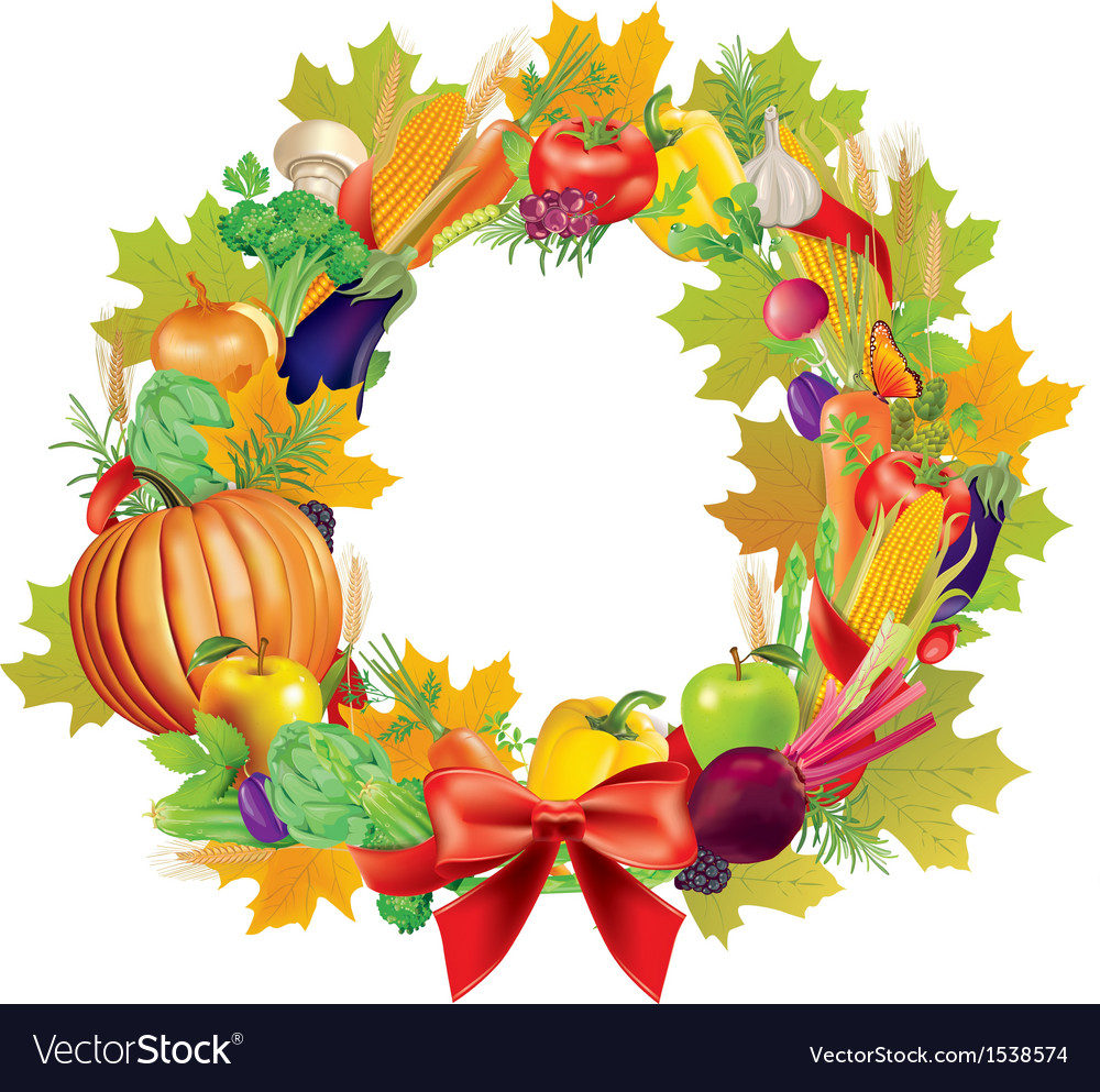 Harvest wreath vector | Price: 3 Credit (USD $3)
