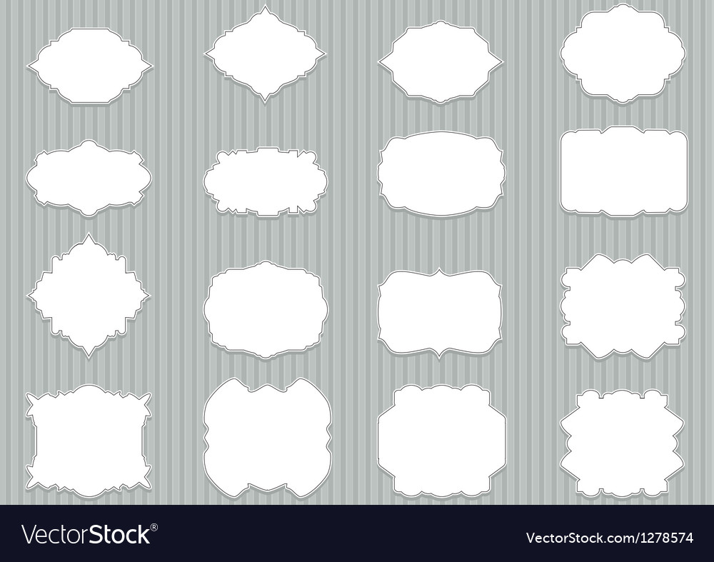 Set blank retro labels scalable and editable vector | Price: 1 Credit (USD $1)