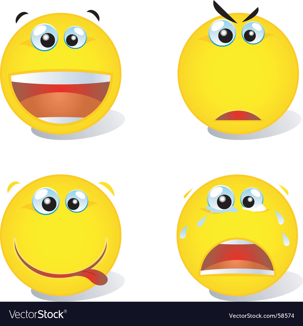 Smiley set vector | Price: 1 Credit (USD $1)
