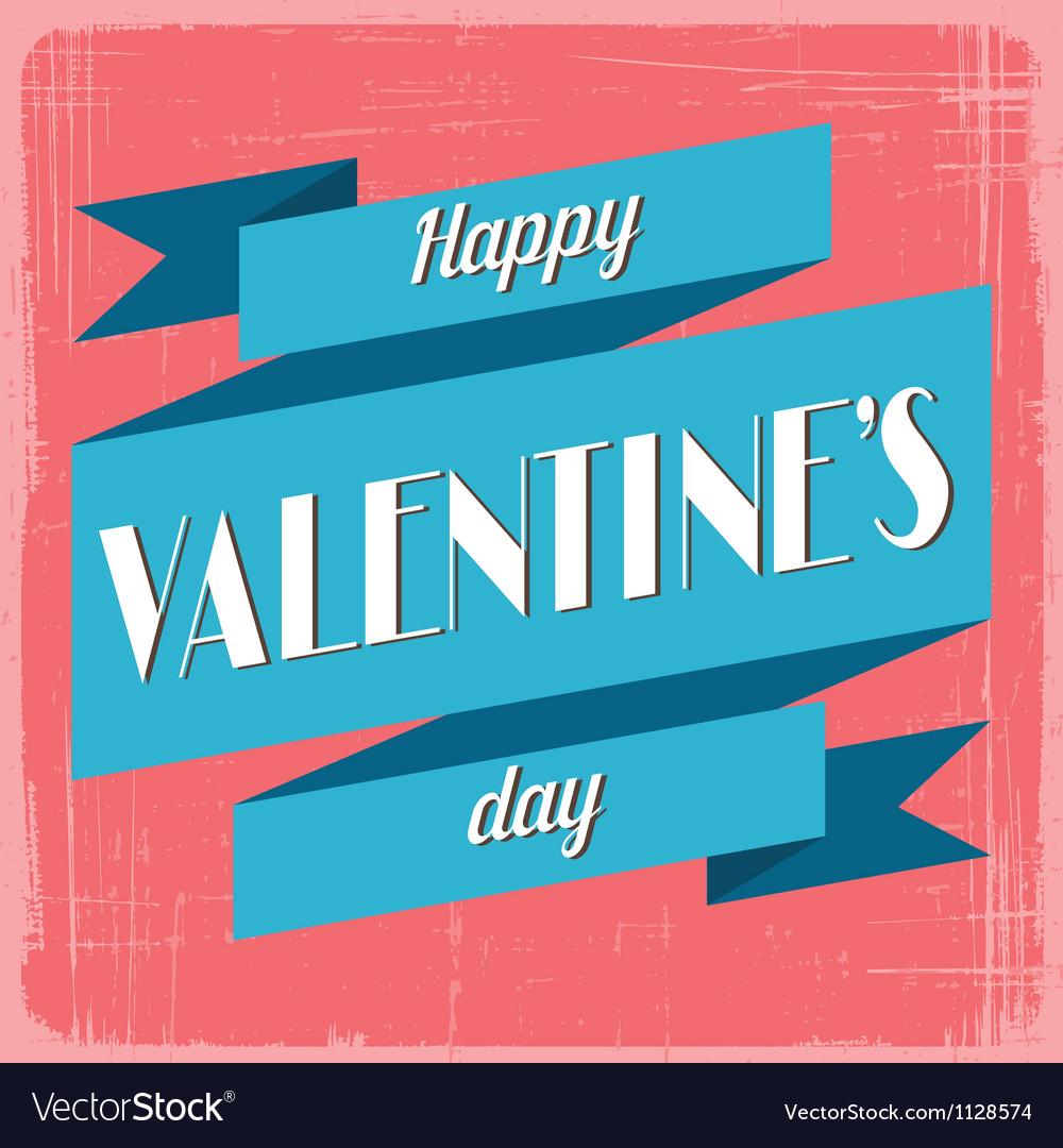Vintage valentines day greeting card vector | Price: 1 Credit (USD $1)