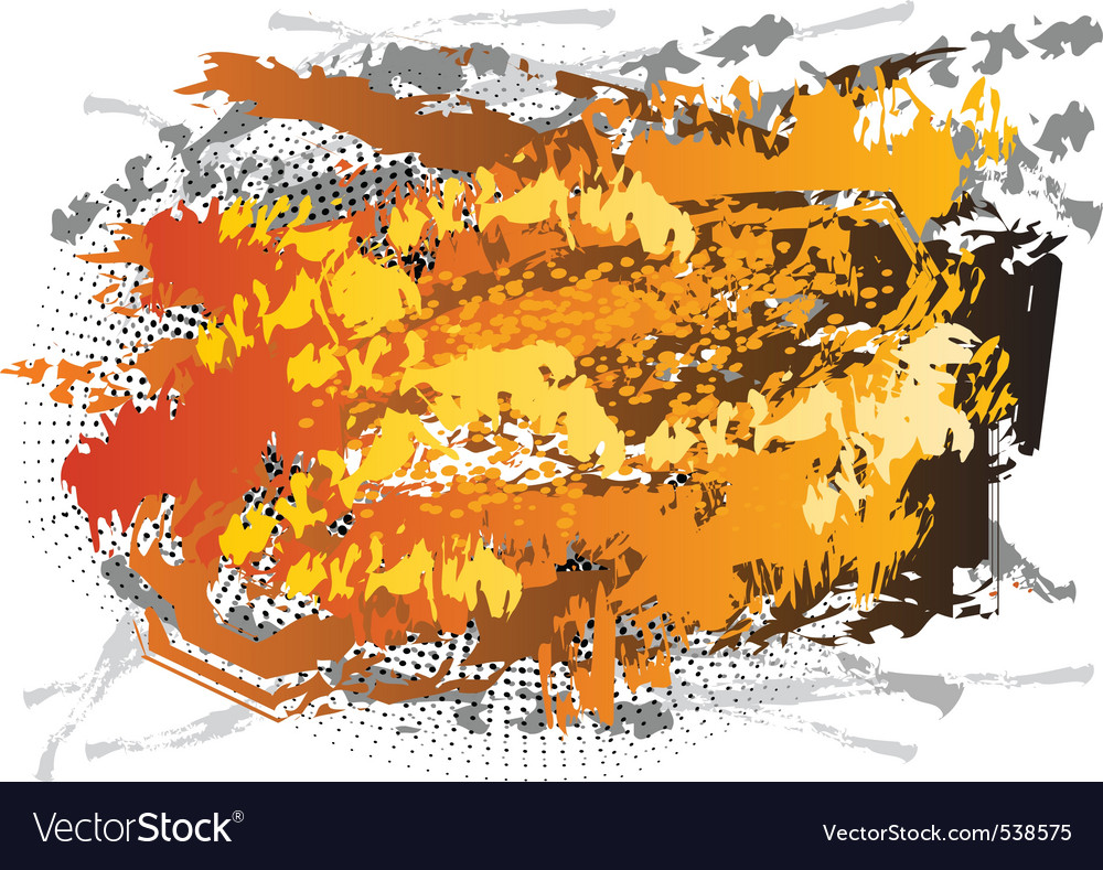 Abstract center background in orange color vector | Price: 1 Credit (USD $1)