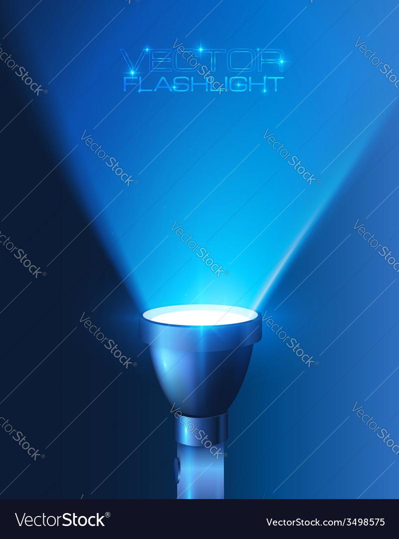 Blue shining flashlight light background vector | Price: 1 Credit (USD $1)