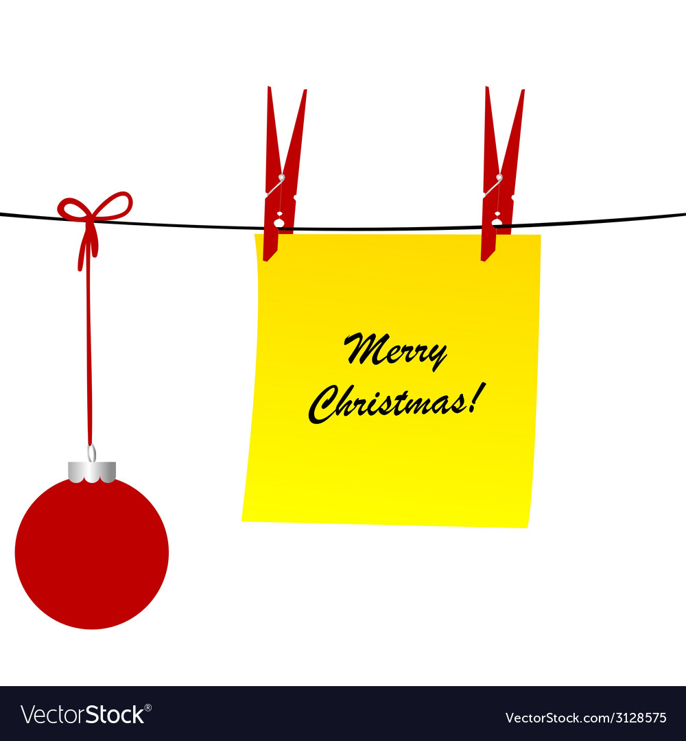 Christmas with a sheet of paper and a christmas vector | Price: 1 Credit (USD $1)