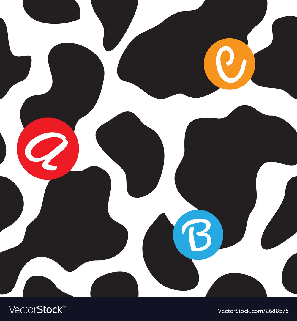 Cow background seamless vector | Price: 1 Credit (USD $1)