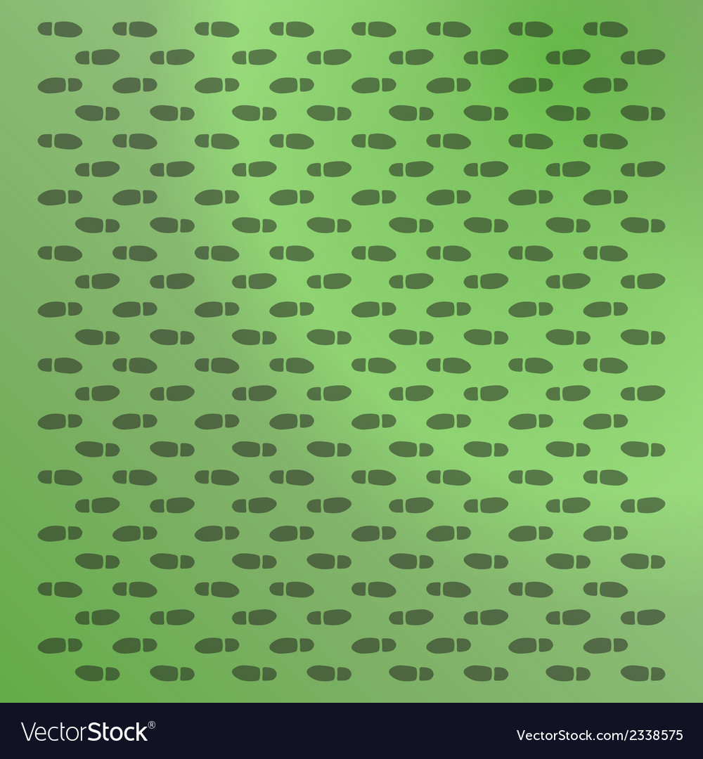 Green background with footprints vector | Price: 1 Credit (USD $1)