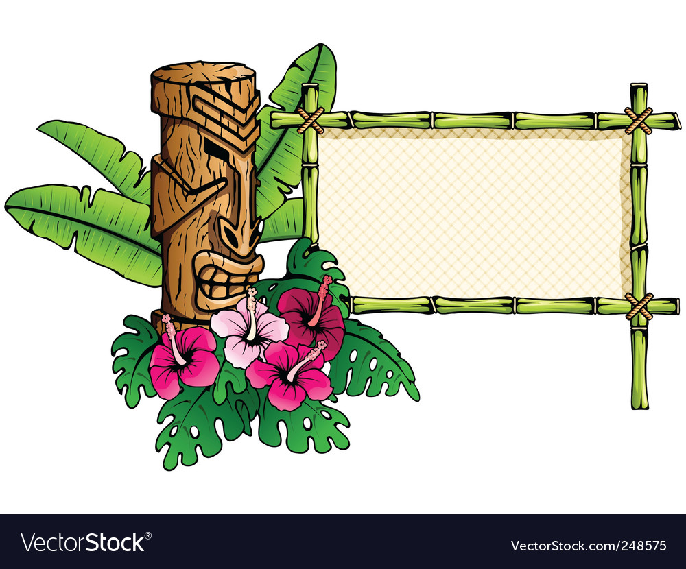 Hawaiian banner vector | Price: 1 Credit (USD $1)