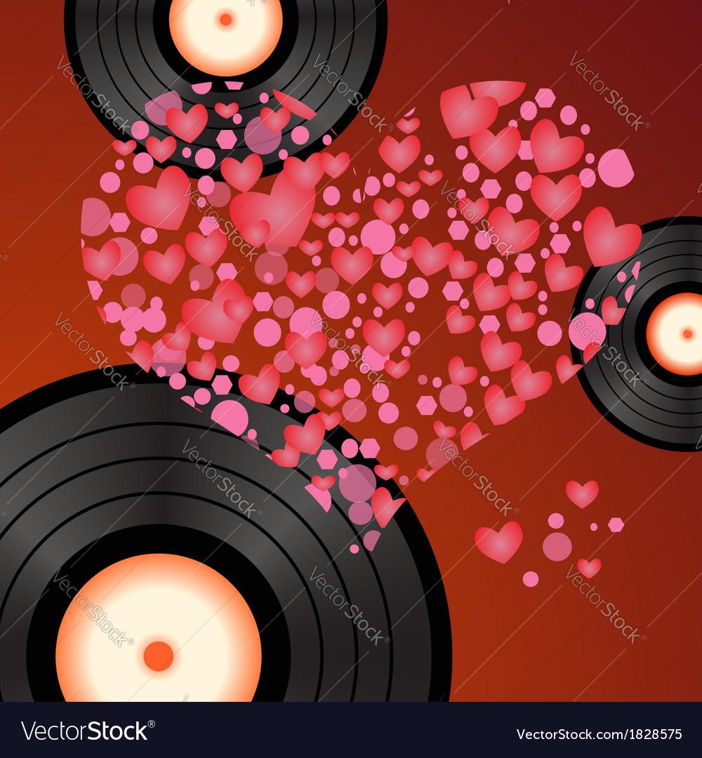 Music heart vector | Price: 1 Credit (USD $1)