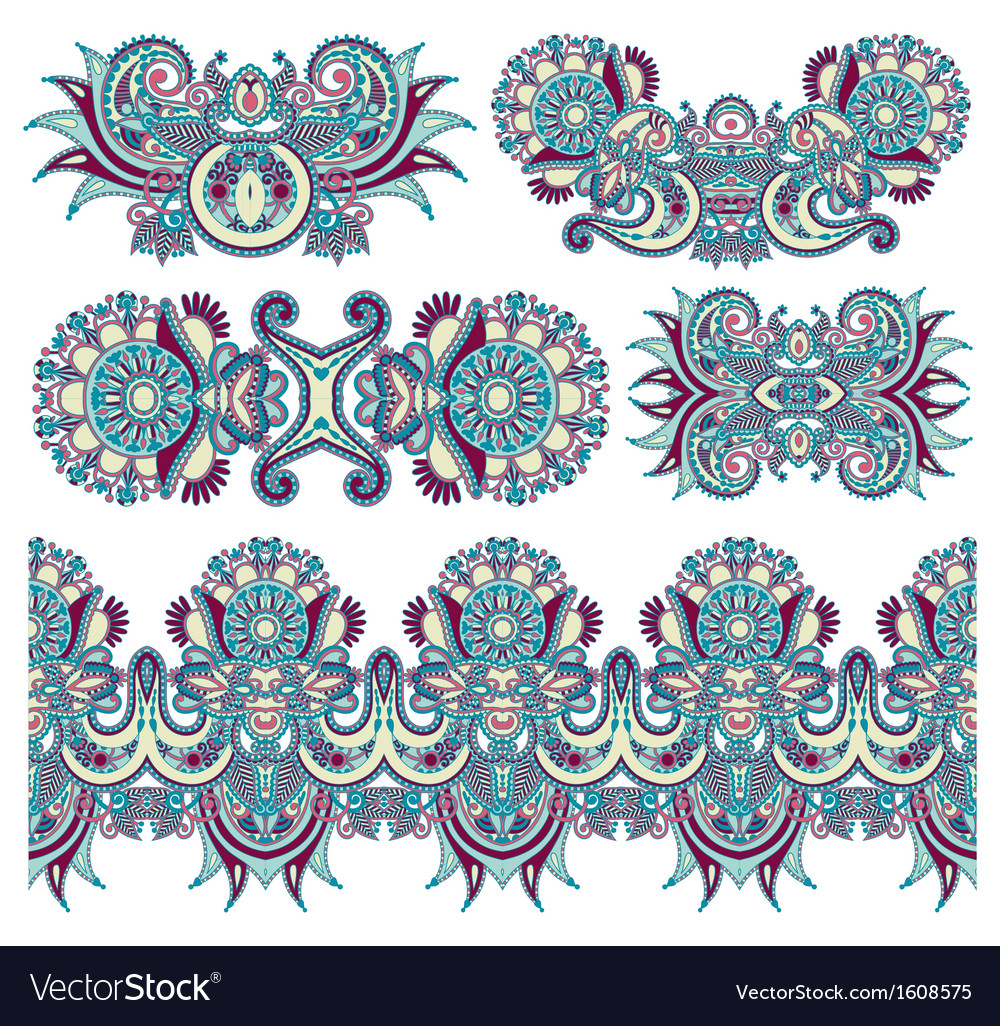 Ornamental floral adornment for your design vector | Price: 1 Credit (USD $1)