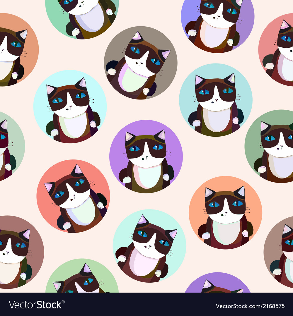Pattern of the siamese cats vector | Price: 1 Credit (USD $1)