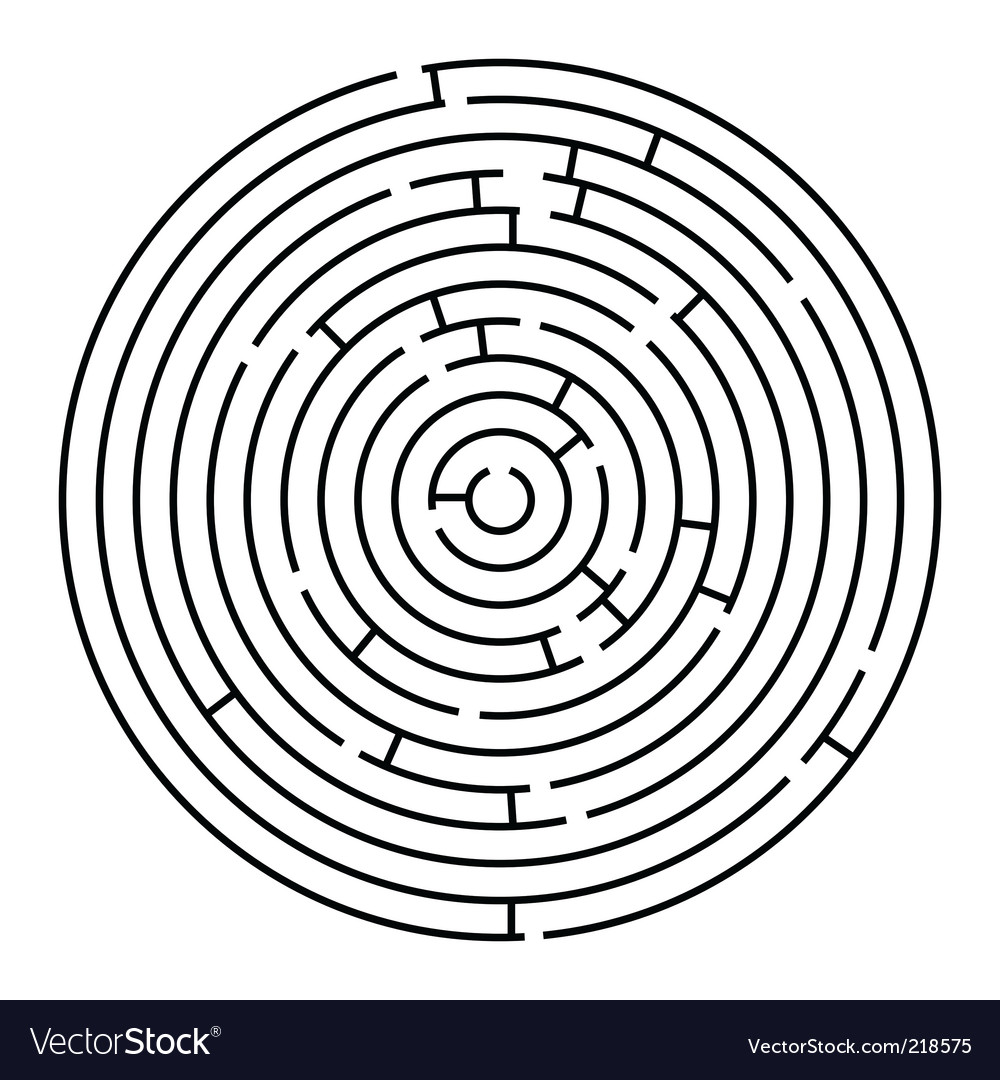 Round maze vector | Price: 1 Credit (USD $1)