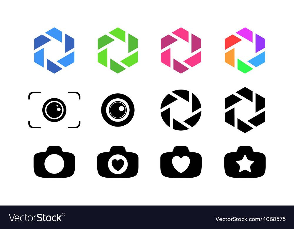 Set of camera lens vector | Price: 1 Credit (USD $1)