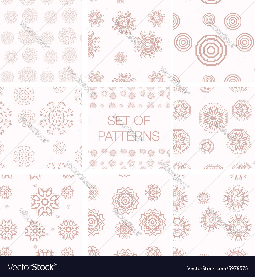 Set of geometrical patterns vector | Price: 1 Credit (USD $1)