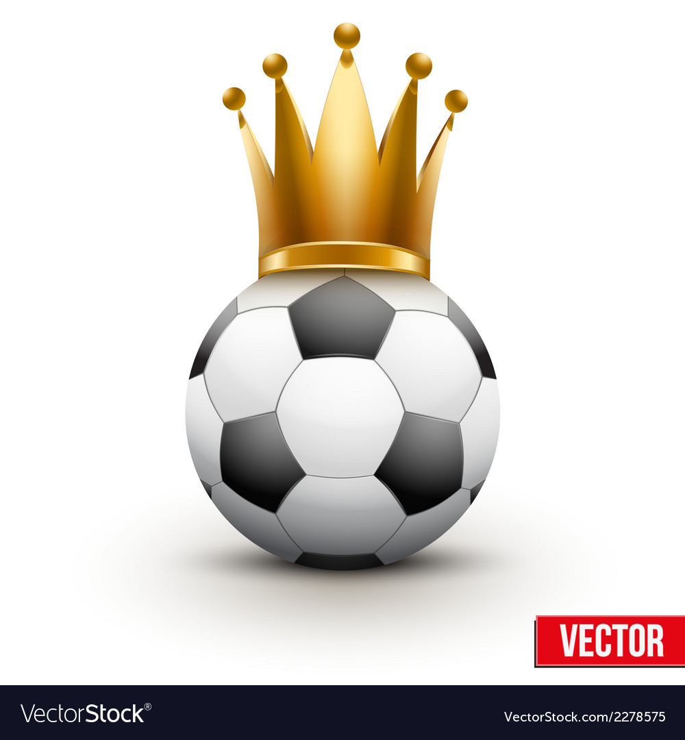 Soccer ball with royal crown of queen vector | Price: 1 Credit (USD $1)