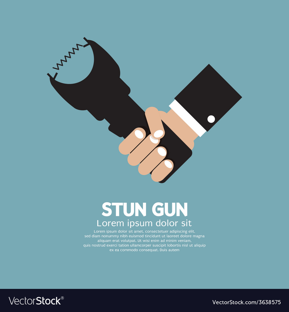 Stun gun a personal security weapon vector | Price: 1 Credit (USD $1)