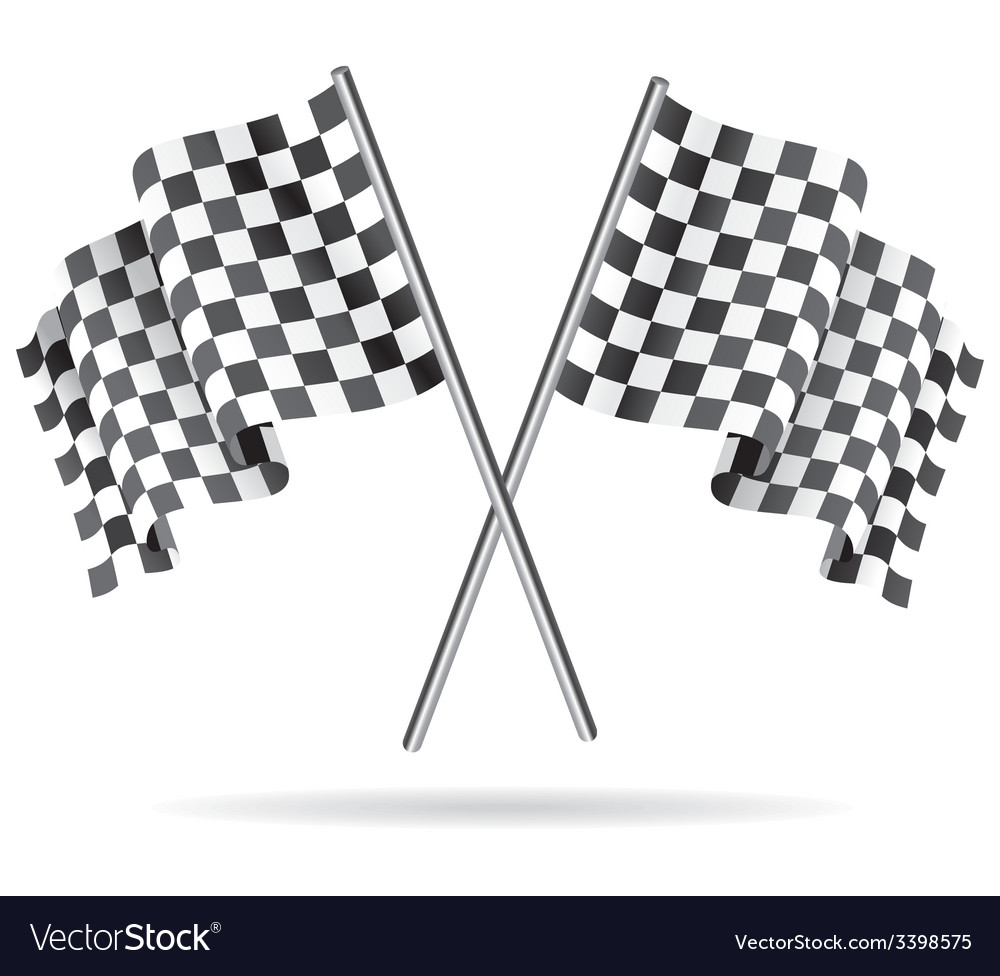 Waving checkered racing flag vector | Price: 1 Credit (USD $1)