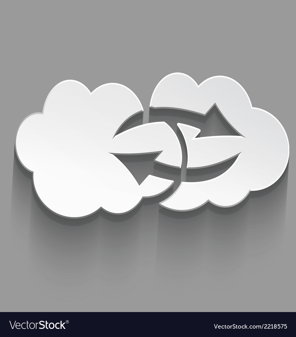 White cloud computing sink icon vector | Price: 1 Credit (USD $1)