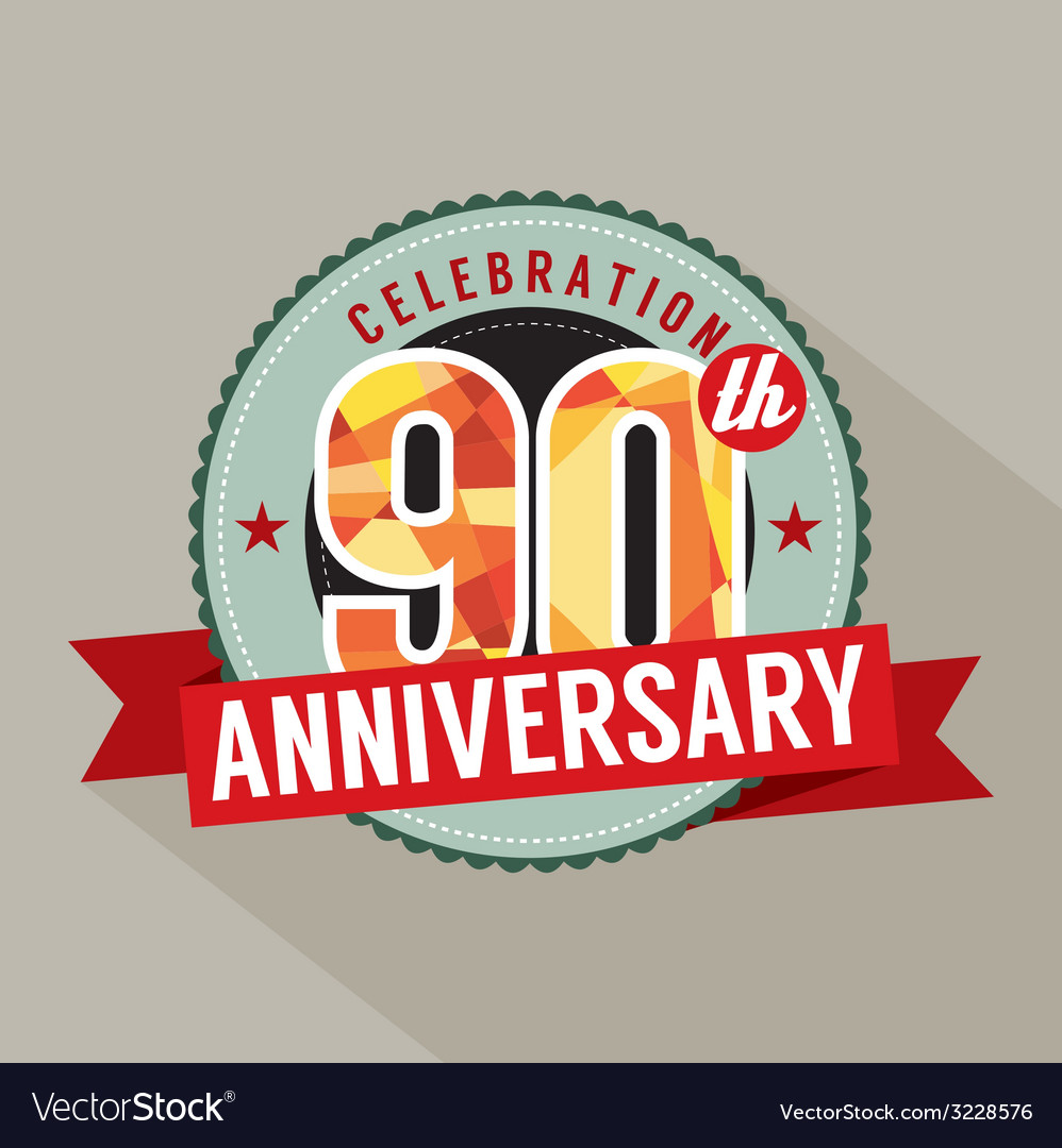 90th years anniversary celebration design vector | Price: 1 Credit (USD $1)