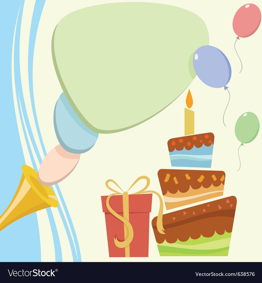 Birthday card vector | Price: 1 Credit (USD $1)