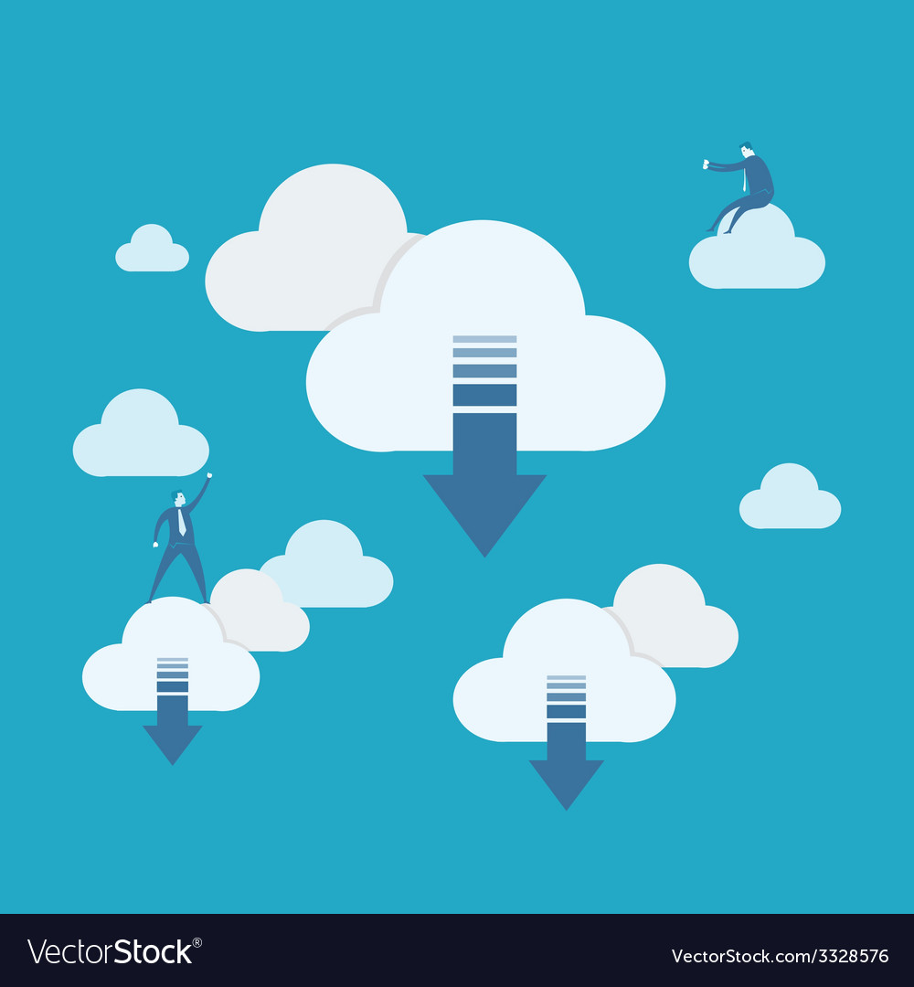 Cloud computing download vector | Price: 1 Credit (USD $1)