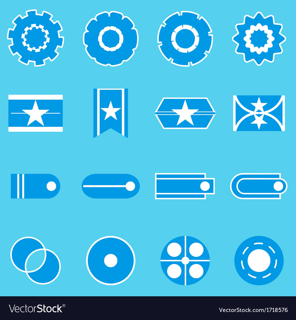 Create banner blue color icons vector | Price: 1 Credit (USD $1)