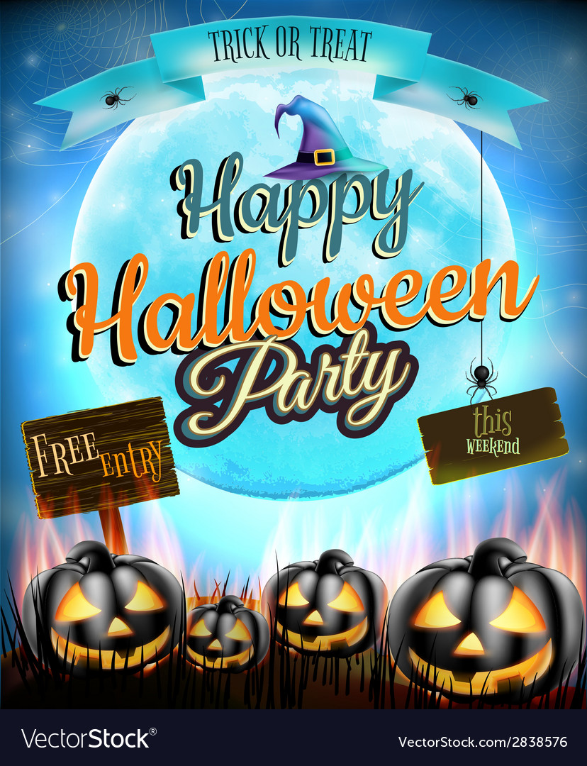 Happy halloween party eps 10 vector | Price: 3 Credit (USD $3)