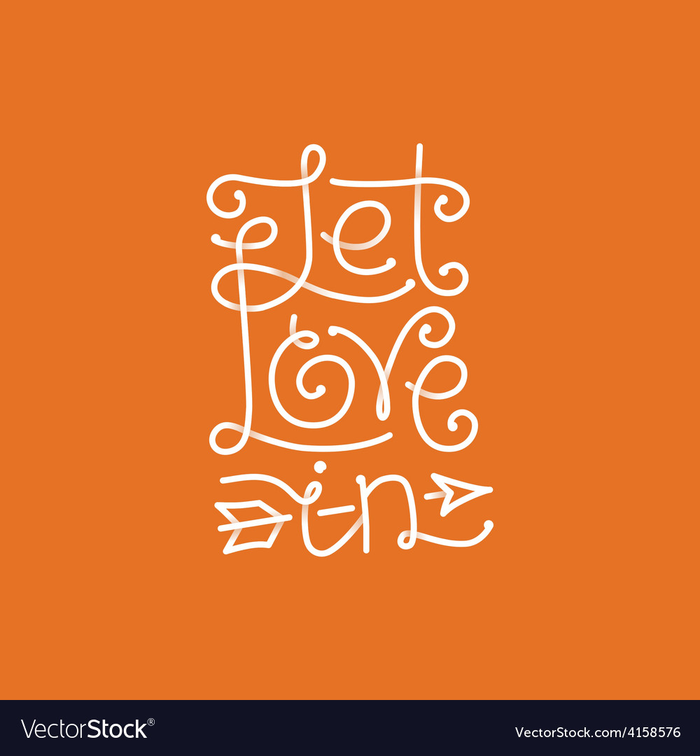 Let love in hand lettering vector | Price: 1 Credit (USD $1)