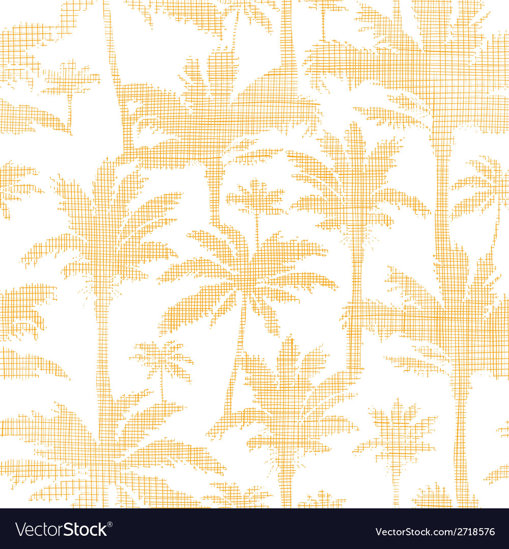 Palm trees golden textile seamless pattern vector | Price: 1 Credit (USD $1)