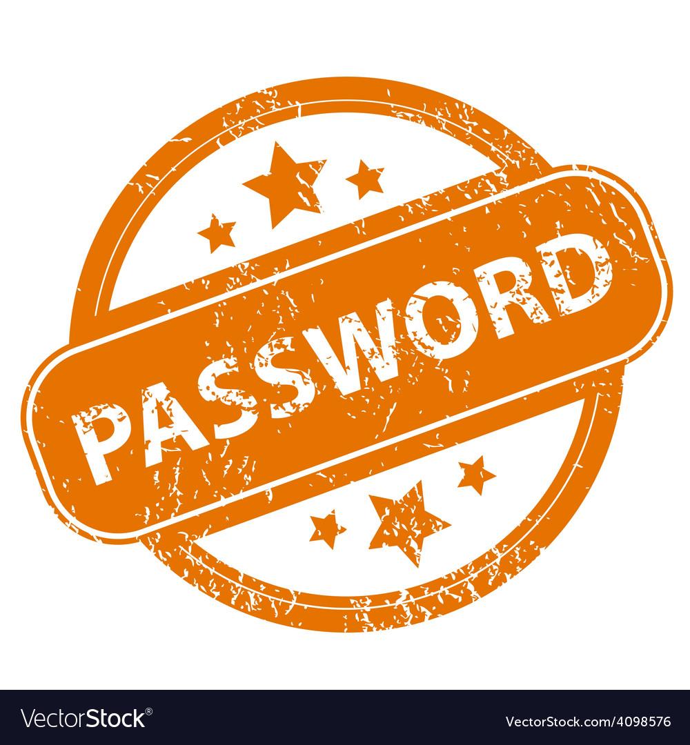 Password grunge icon vector | Price: 1 Credit (USD $1)