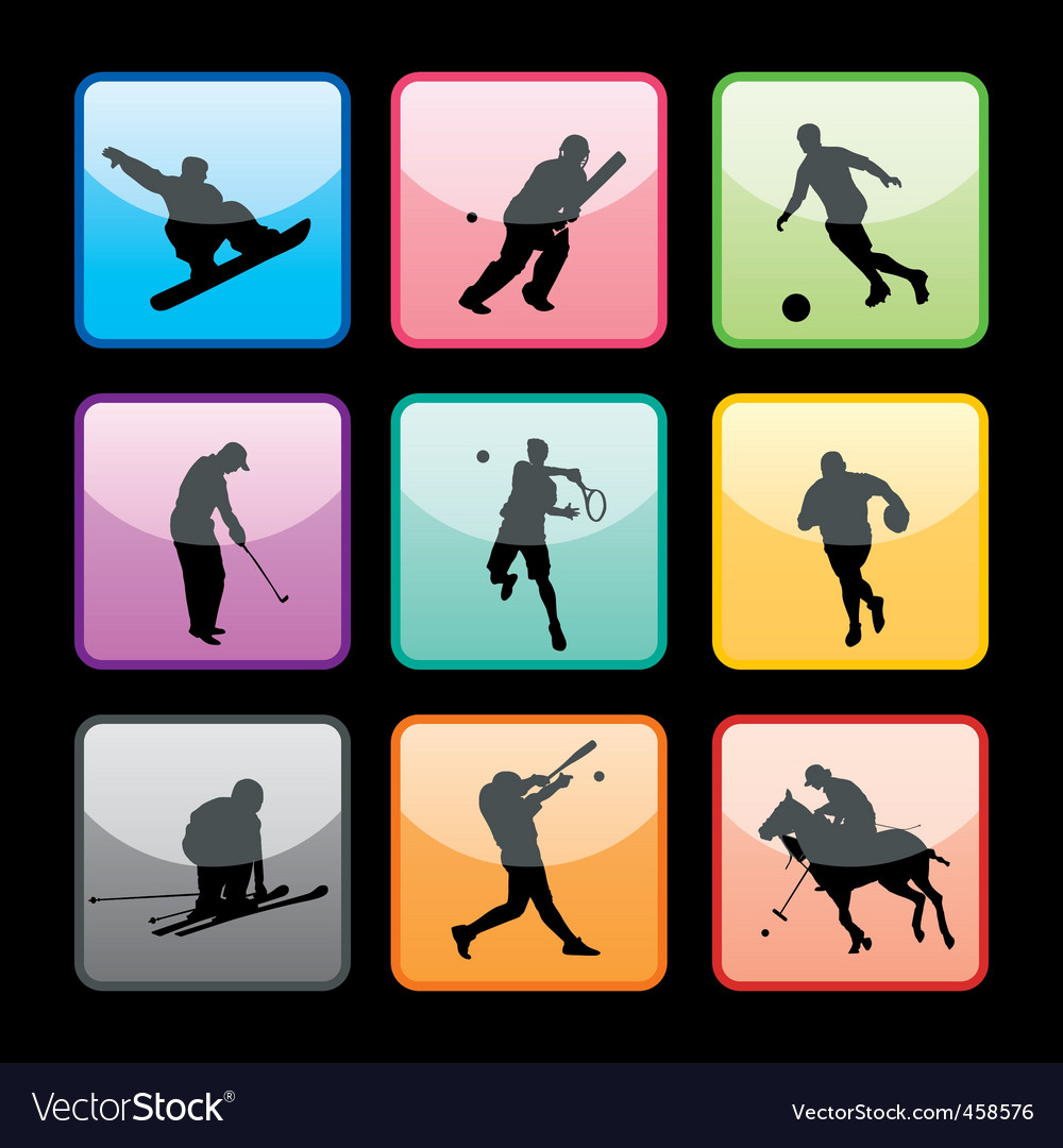 Sports buttons set01 vector | Price: 1 Credit (USD $1)