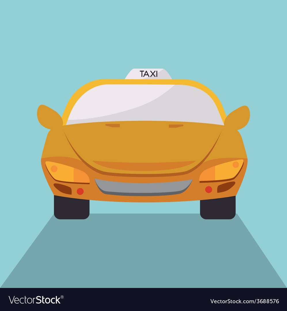 Taxi design over blue background vector | Price: 1 Credit (USD $1)