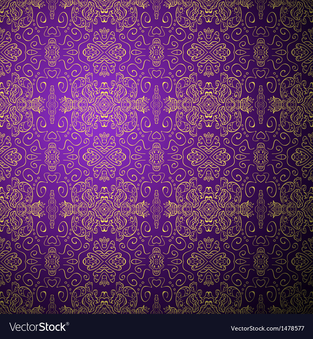 Antique pattern background purple seamless vector | Price: 1 Credit (USD $1)