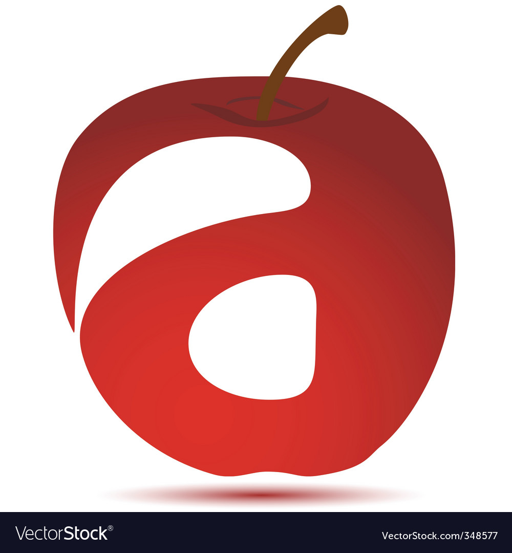 Apple with text vector | Price: 1 Credit (USD $1)