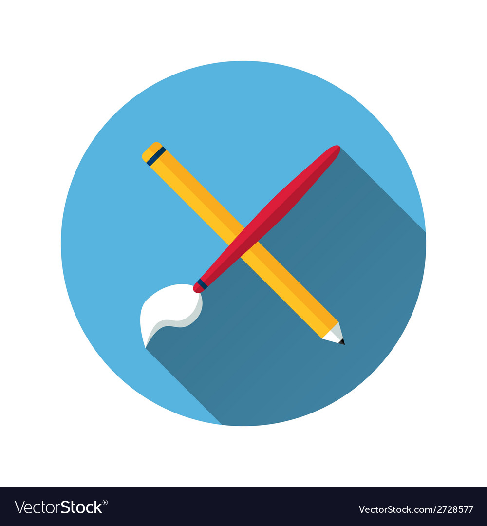 Brush and pencil icon vector | Price: 1 Credit (USD $1)