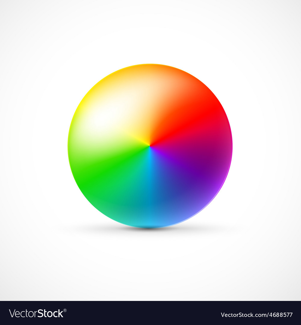 Colorful 3d ball on white background vector | Price: 1 Credit (USD $1)