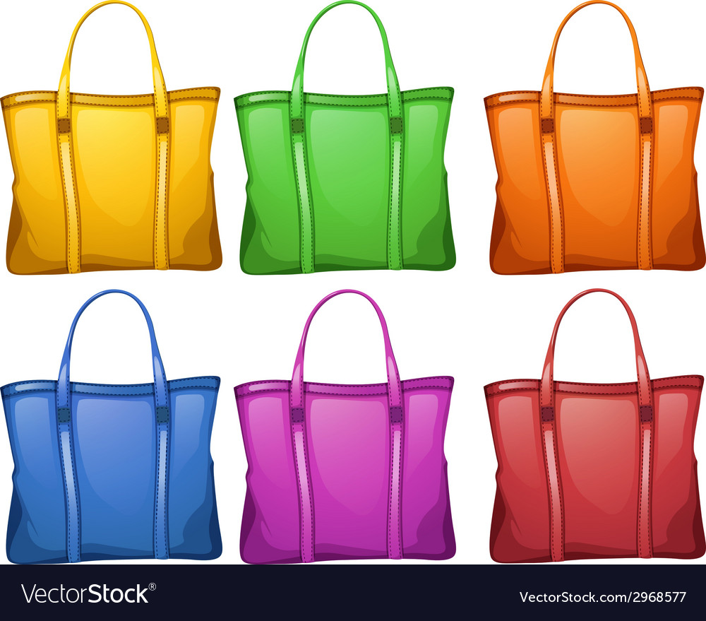 Colourful handbags vector | Price: 1 Credit (USD $1)