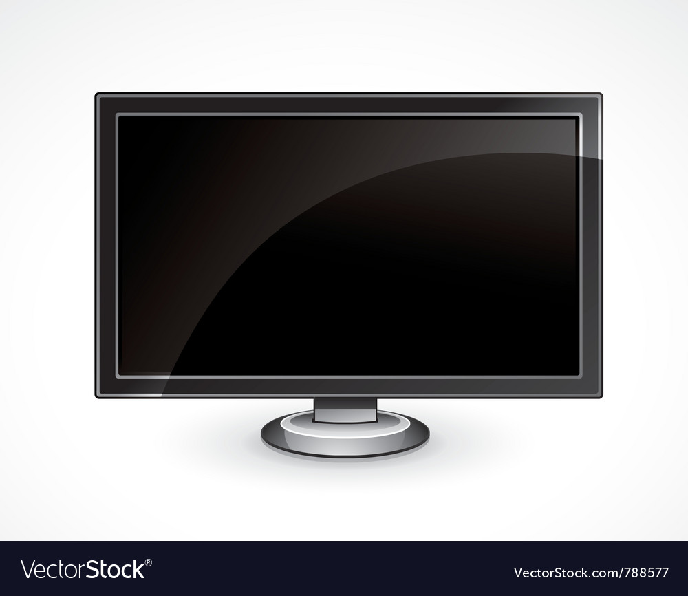 Flat panel tv vector | Price: 3 Credit (USD $3)