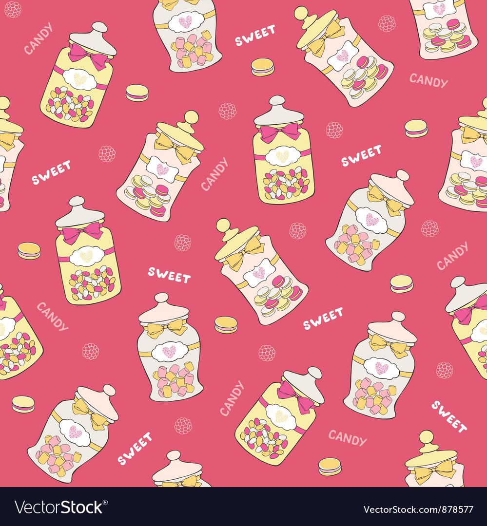 Jars of sweets seamless vector | Price: 1 Credit (USD $1)