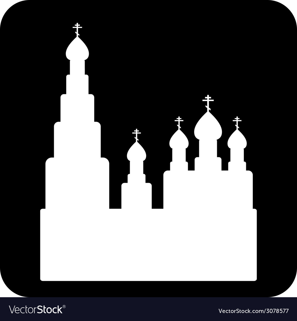 Orthodox church sign button vector | Price: 1 Credit (USD $1)