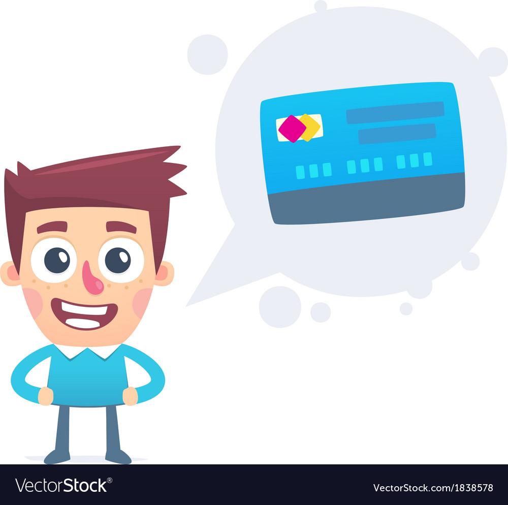 Advantages of debit card vector | Price: 1 Credit (USD $1)