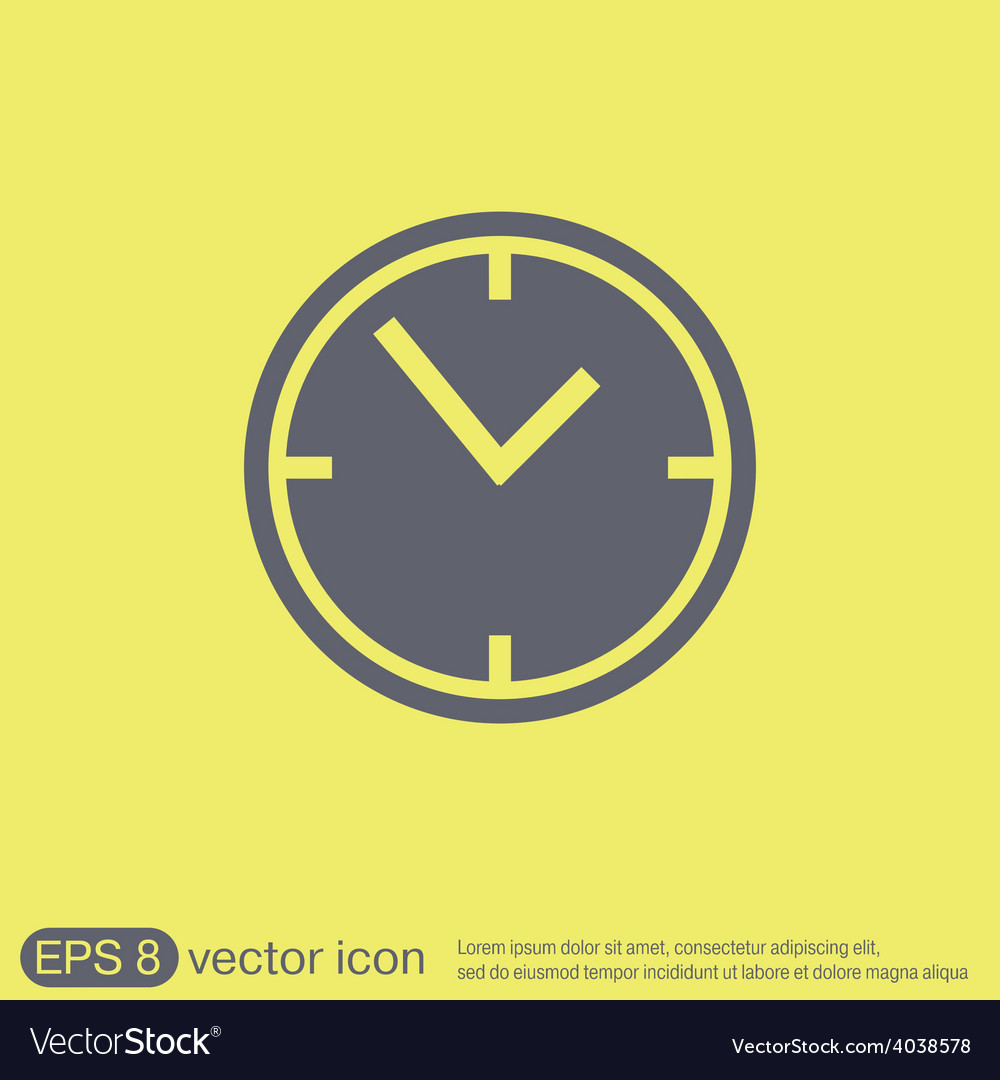 Clock watches icon vector | Price: 1 Credit (USD $1)
