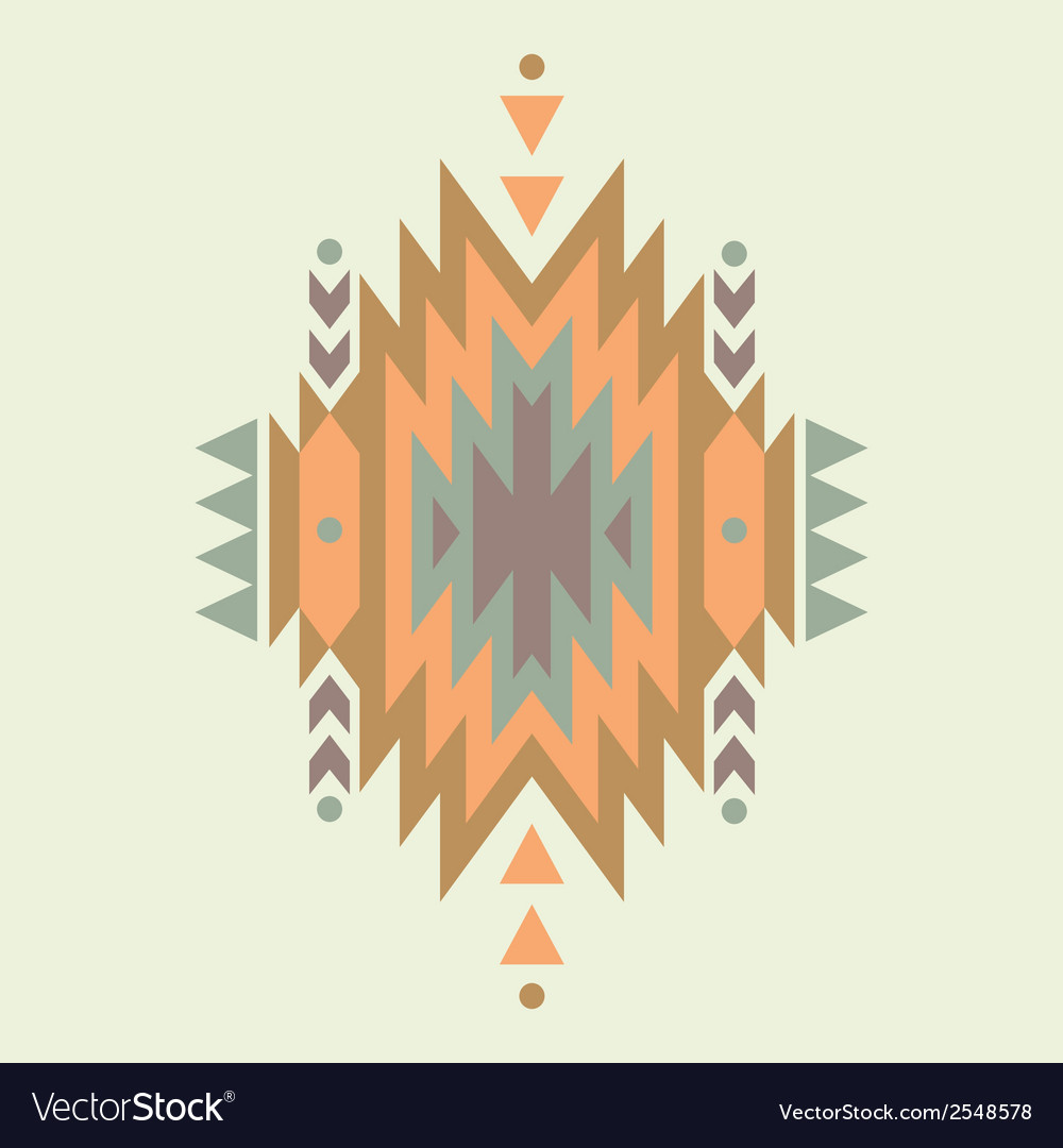 Colorful decorative ethnic pattern vector | Price: 1 Credit (USD $1)