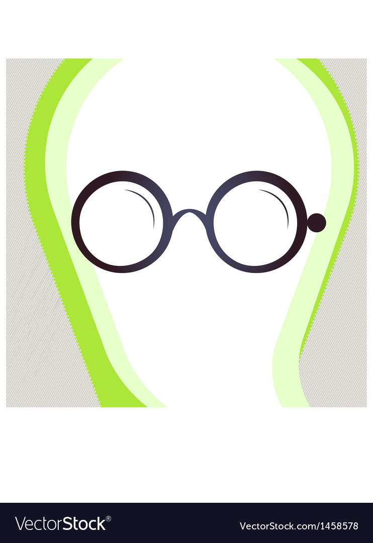 Glasses retro-style emblem icon pictogram eps 10 vector | Price: 1 Credit (USD $1)